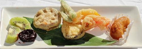 有機野菜の天ぷら