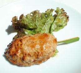 神山鶏のつくね 有機醤油の照り焼き