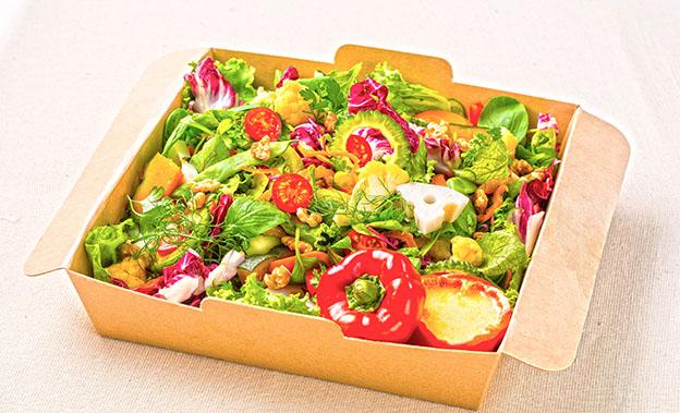 有機野菜の10品目ビューティーサラダ 自家製コーンのドレッシング