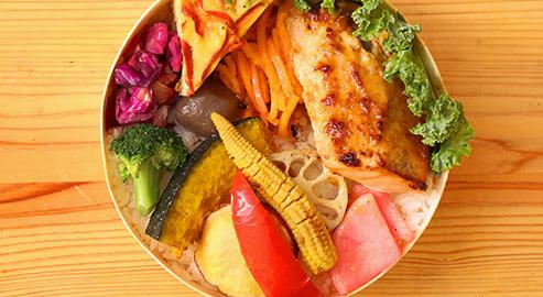 10種類野菜<br />鮭の味噌胡麻マヨネーズ弁当イメージ画像