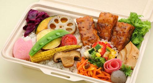 10種の有機野菜とテンペの<br />マスタード醤油ソース弁当イメージ画像