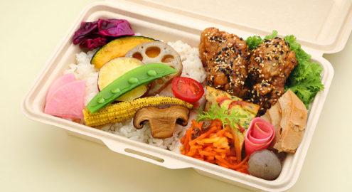 10種類野菜<br />健やか鶏の<br />胡麻香り揚げ弁当イメージ画像