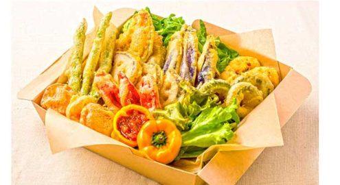 有機野菜のフリッター<br /> オーガニックサルサソースイメージ画像