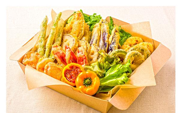 有機野菜のフリッター オーガニックサルサソース