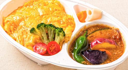 自然卵の<br />肉味噌オムライス弁当イメージ画像