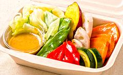 季節の温野菜サラダ 豆乳胡麻ドレッシング