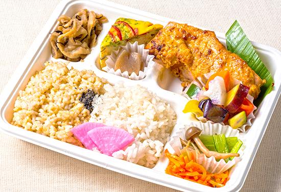鮭の味噌胡麻マヨネーズ焼き弁当
