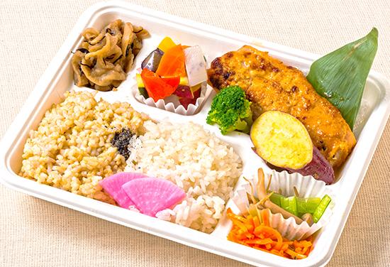 鮭の味噌胡麻マヨネーズ焼き弁当(オムレツなし)